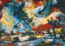 Hubert Roestenburg Landscape with Ghost German Expressionism