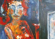 Hubert Roestenburg Nude with prayer chair German Expressionism
