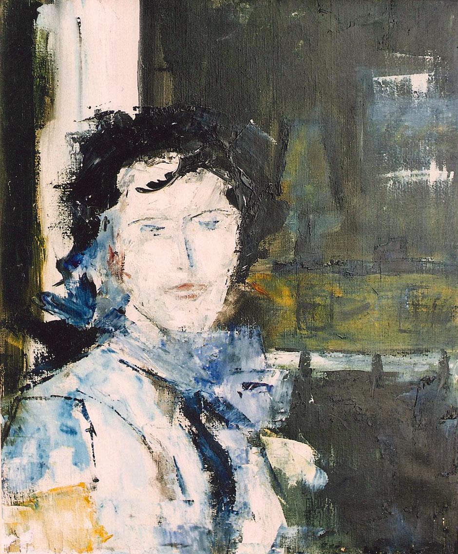 Hubert Roestenburg Portrait Carolyne German Expressionism