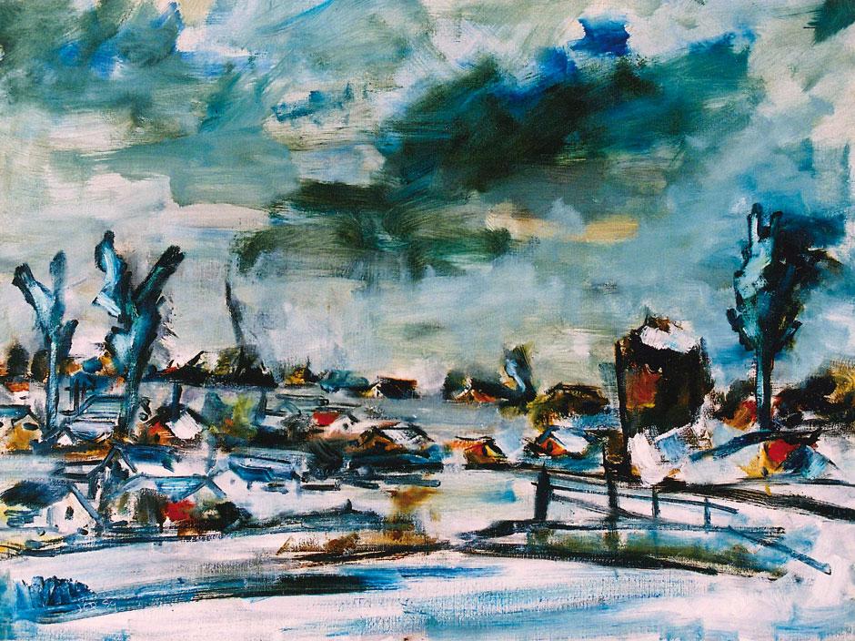 Hubert Roestenburg Winter near Amsterdam German Expressionism