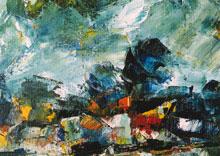 Hubert Roestenburg German Expressionist Painter Autumn near London