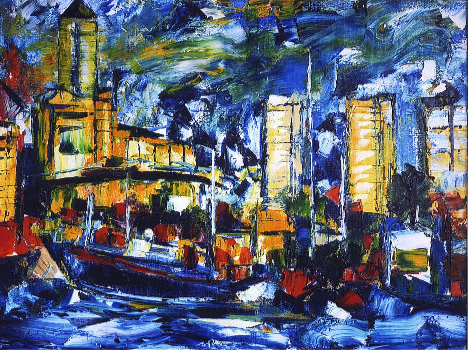 German Expressionism, German Expressionist painting Hubert Roestenburg Docklands