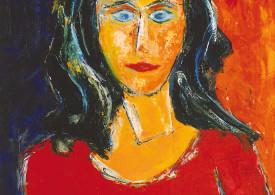 German Expressionism Portrait Andrea by Hubert Roestenburg