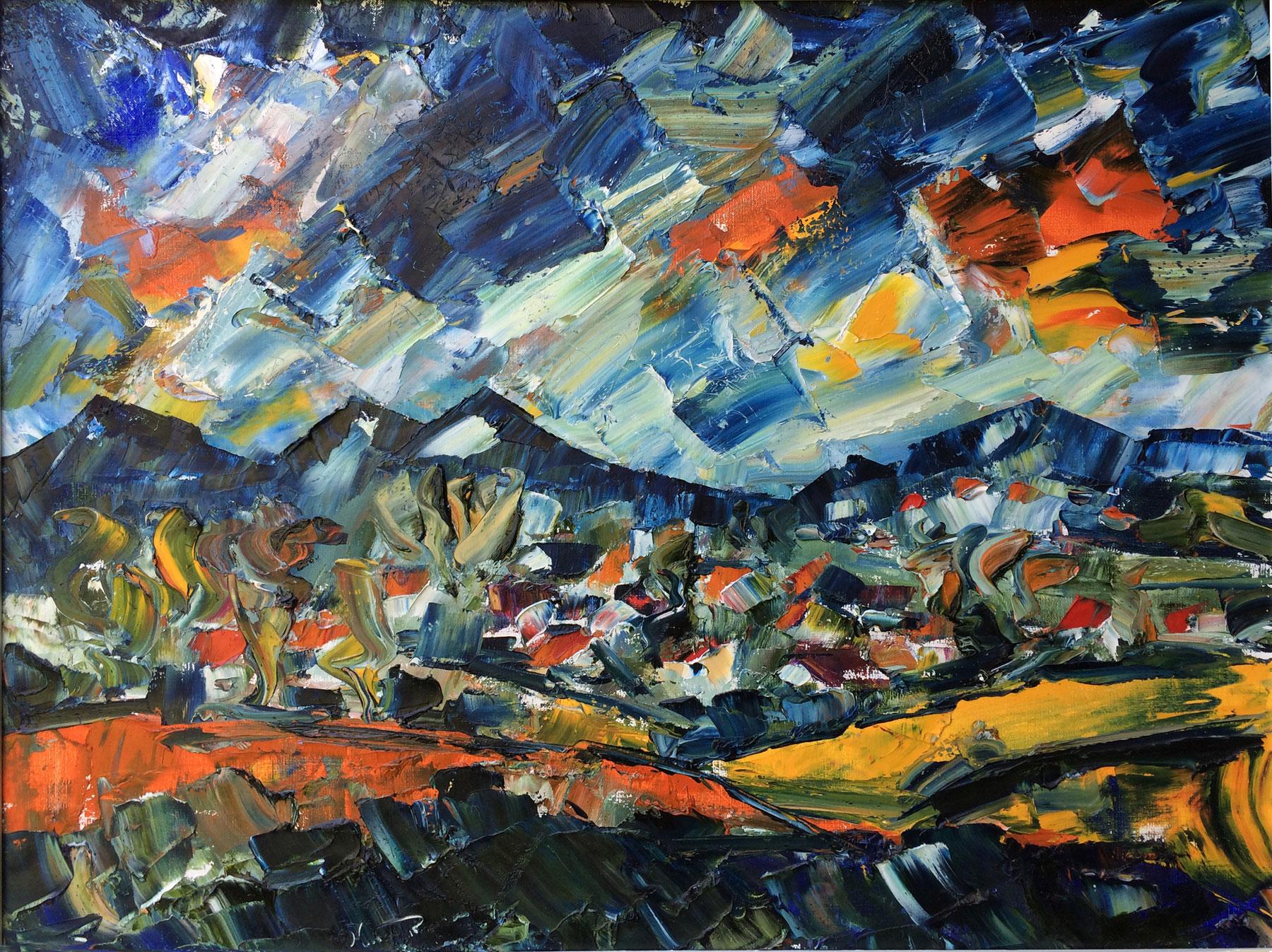 German-Expressionism-Hubert-Roestenburg-Alpenzicht-Buching-Halblech